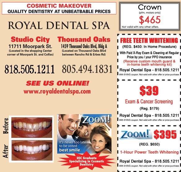 Studio City Cosmetic Dentist: Cosmetic Makeover. Quality Dentistry at Unbeatable Prices.
